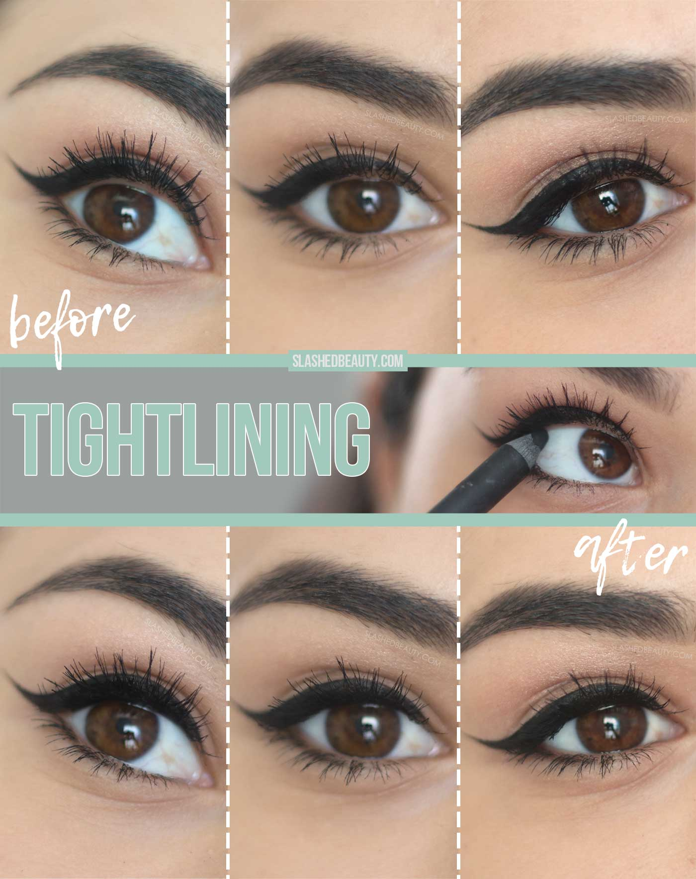 5 Best Drugstore Eyeliners for Tightlining | What is tightlining eyeliner? | How to tightline eyes | Slashed Beauty