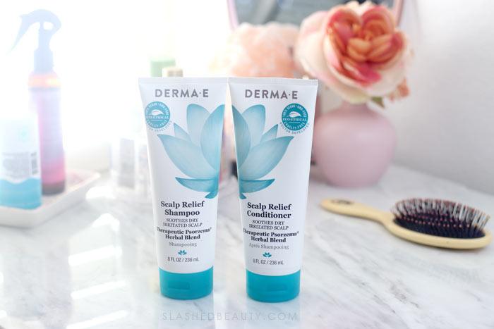 The Best Color Safe Dandruff Shampoo: Derma E Scalp Relief Shampoo Review | Chemical-free shampoo | Slashed Beauty