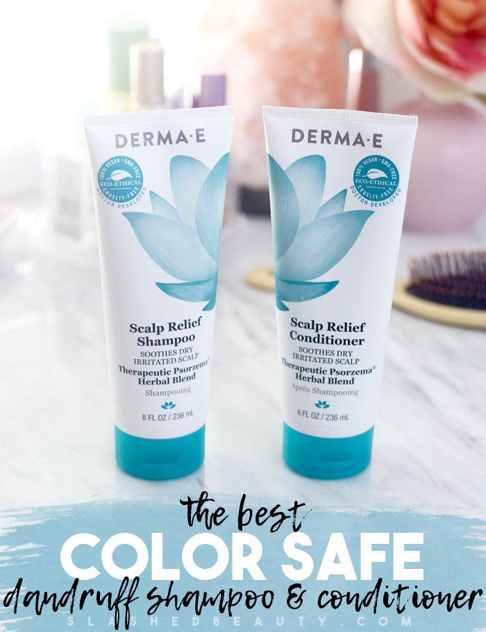 The Best Color Safe Dandruff Shampoo: Derma E Scalp Relief Shampoo Review | Slashed Beauty
