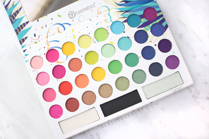 4 Bright & Colorful Eyeshadow Palettes under $30: BH Cosmetics Take Me Back to Brazil Palette | Slashed Beauty