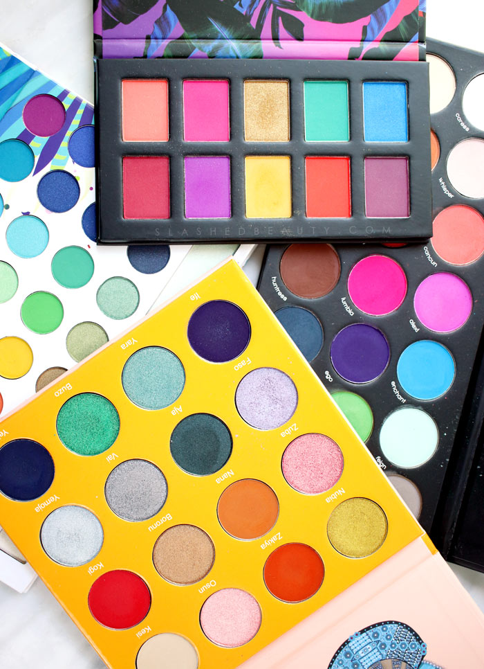 4 Bright & Colorful Eyeshadow Palettes under $30 | Slashed Beauty