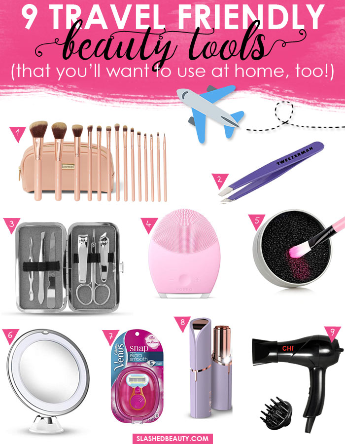 9 Travel Friendly Beauty Tools You Can Use in your Daily Routine | Slashed Beauty