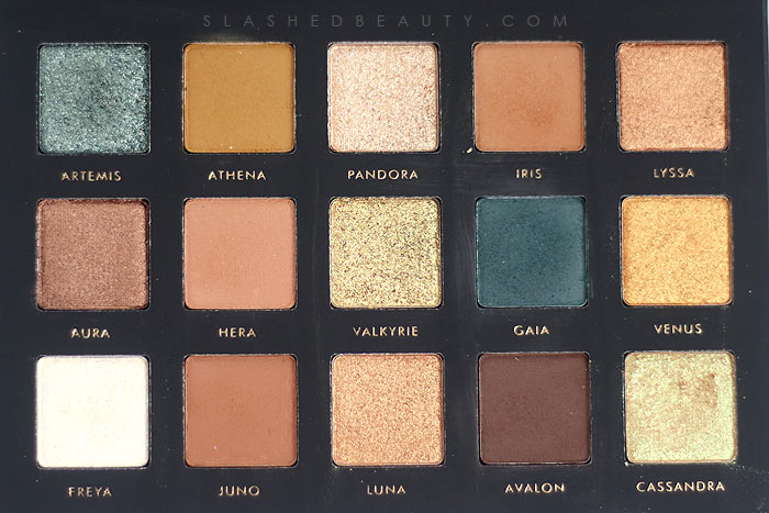 Alter Ego Goddess Eyeshadow Palette Review & Swatches | Slashed Beauty