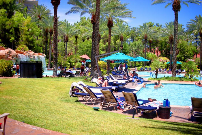 Relaxing Las Vegas Cabana at JW Marriott | Affordable Las Vegas Cabana Packages | Slashed Beauty