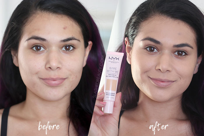 NYX Bare With Me Tinted Skin Veil Review + Before & After | Slashed Beauty