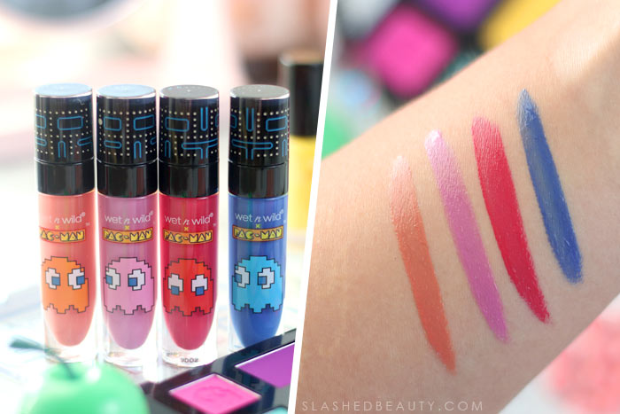 wet n wild x Pacman Collection Review & Swatches | Ghost Gloss Lip Glosses | Slashed Beauty