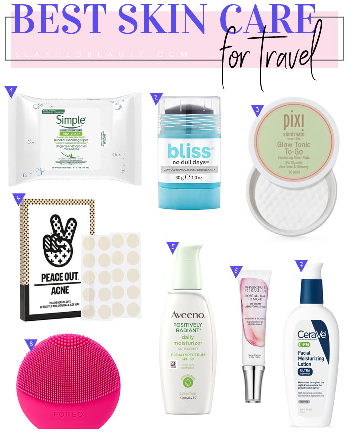 Best Travel Skin Care for Packing Light | Here are my favorite travel skin care products to keep your routine complete on-the-go more conveniently! | Slashed Beauty