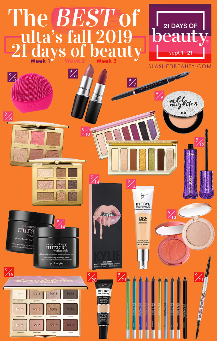 Discover the BEST deals during the Ulta 21 Days of Beauty September 2019 Sale. Here are the products you won't want to miss! | 50% off Beauty Must Haves | Slashed Beauty