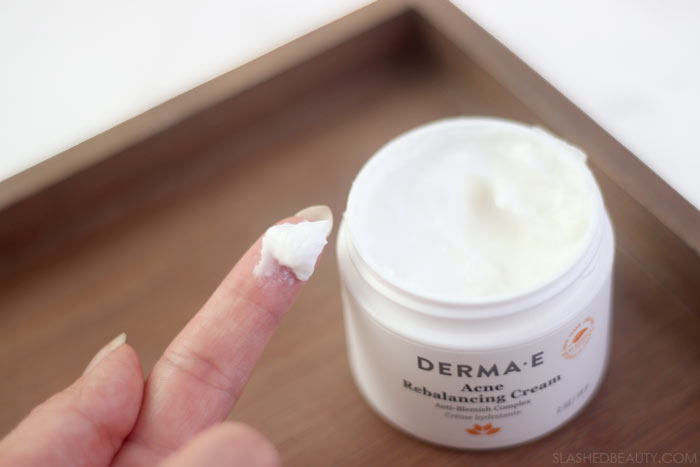 Budget Friendly Clean Beauty Staples | Green Beauty from the Drugstore: Derma E Acne Rebalancing Cream | Slashed Beauty