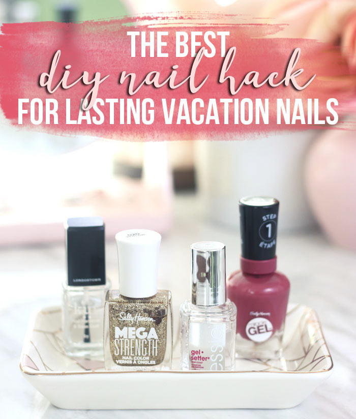 I started doing this one little trick to get my vacation nails to look great throughout my entire trip. It's super easy and conceals chipping! | Nail Hack for DIY Long Lasting Vacation Nails | Slashed Beauty