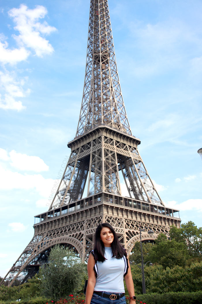 What to Wear in Paris in September: Vacation Outfits   Eiffel Tower Outfit Idea   Slashed Beauty