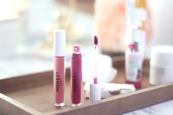 Budget Friendly Clean Beauty Staples | Green Beauty from the Drugstore: Honest Beauty Liquid Lipstick | Slashed Beauty