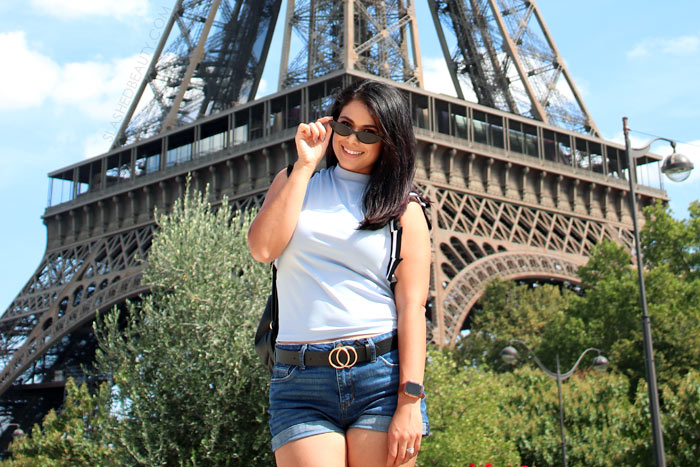 What to Wear in Paris in Fall: Vacation Outfits   Eiffel Tower Outfit   Slashed Beauty