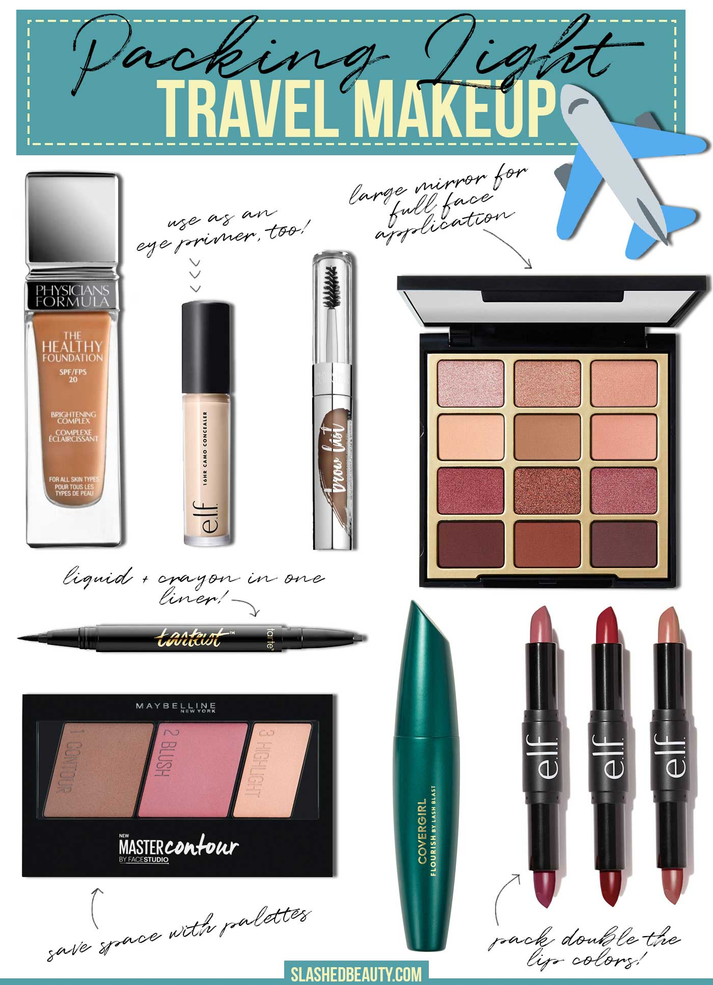 Must-Haves for Packing a Light Makeup Bag for Travel  Slashed Beauty