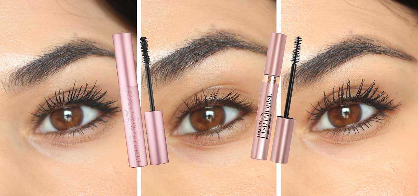 Two Drugstore Dupes for Too Faced Better Than Sex Mascara | L'Oreal Lash Paradise vs. Too Faced Better Than Sex Mascara | Slashed Beauty