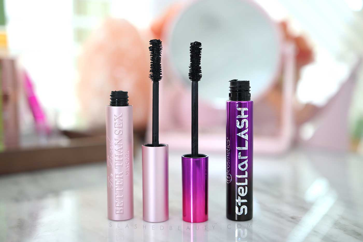 Two Drugstore Dupes for Too Faced Better Than Sex Mascara | BH Cosmetics Stellar Lash vs. Too Faced Better Than Sex Mascara | Slashed Beauty