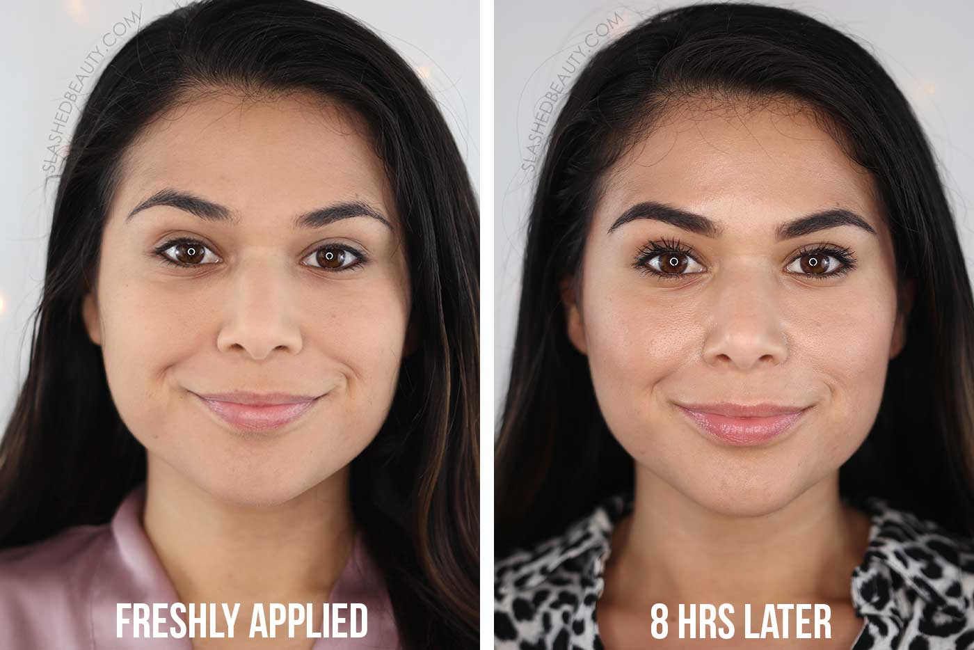 Maybelline SuperStay Powder Foundation Before and After 8 Hours | Slashed Beauty