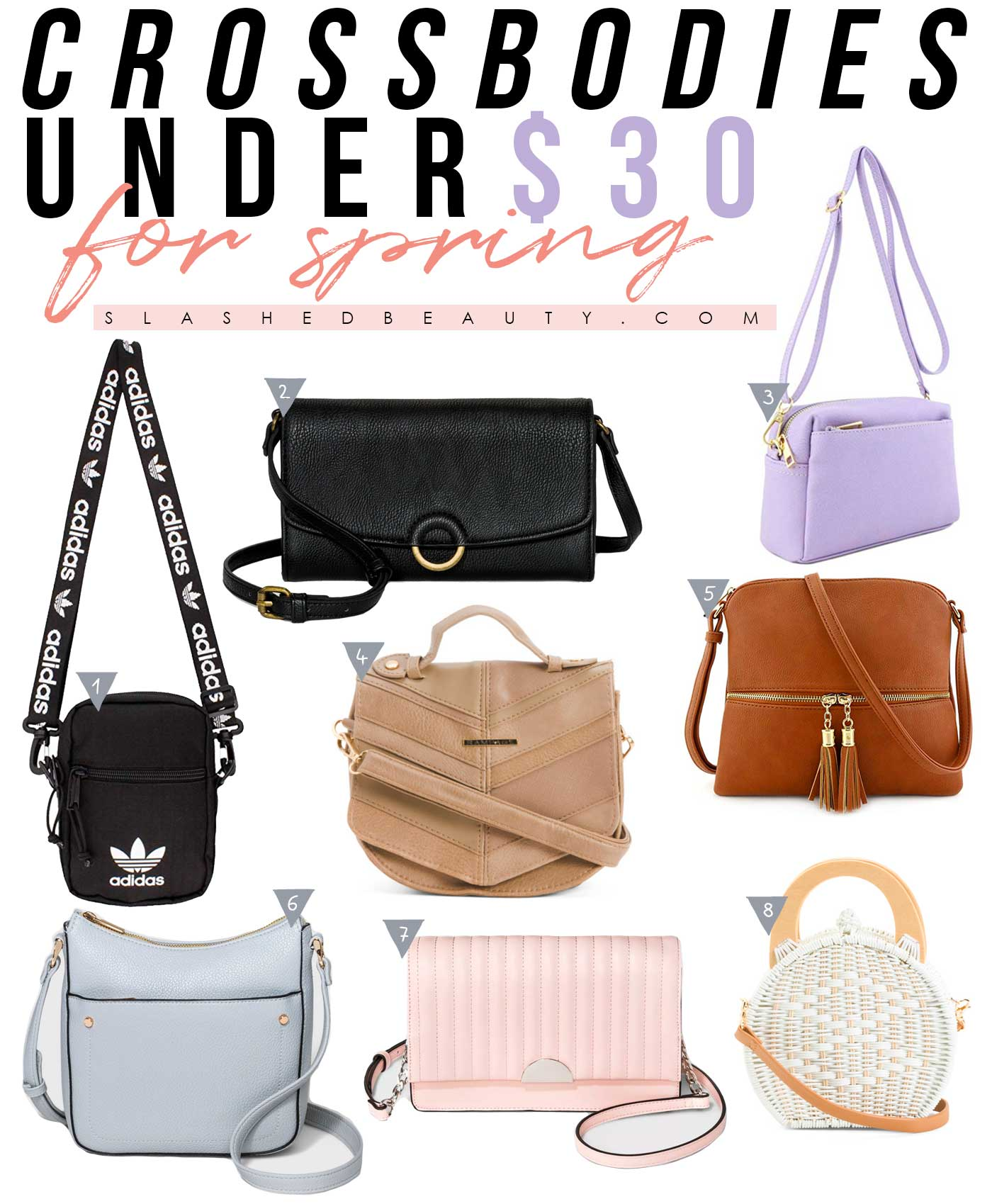 Cute Crossbody Purses for Spring under $30 | Slashed Beauty