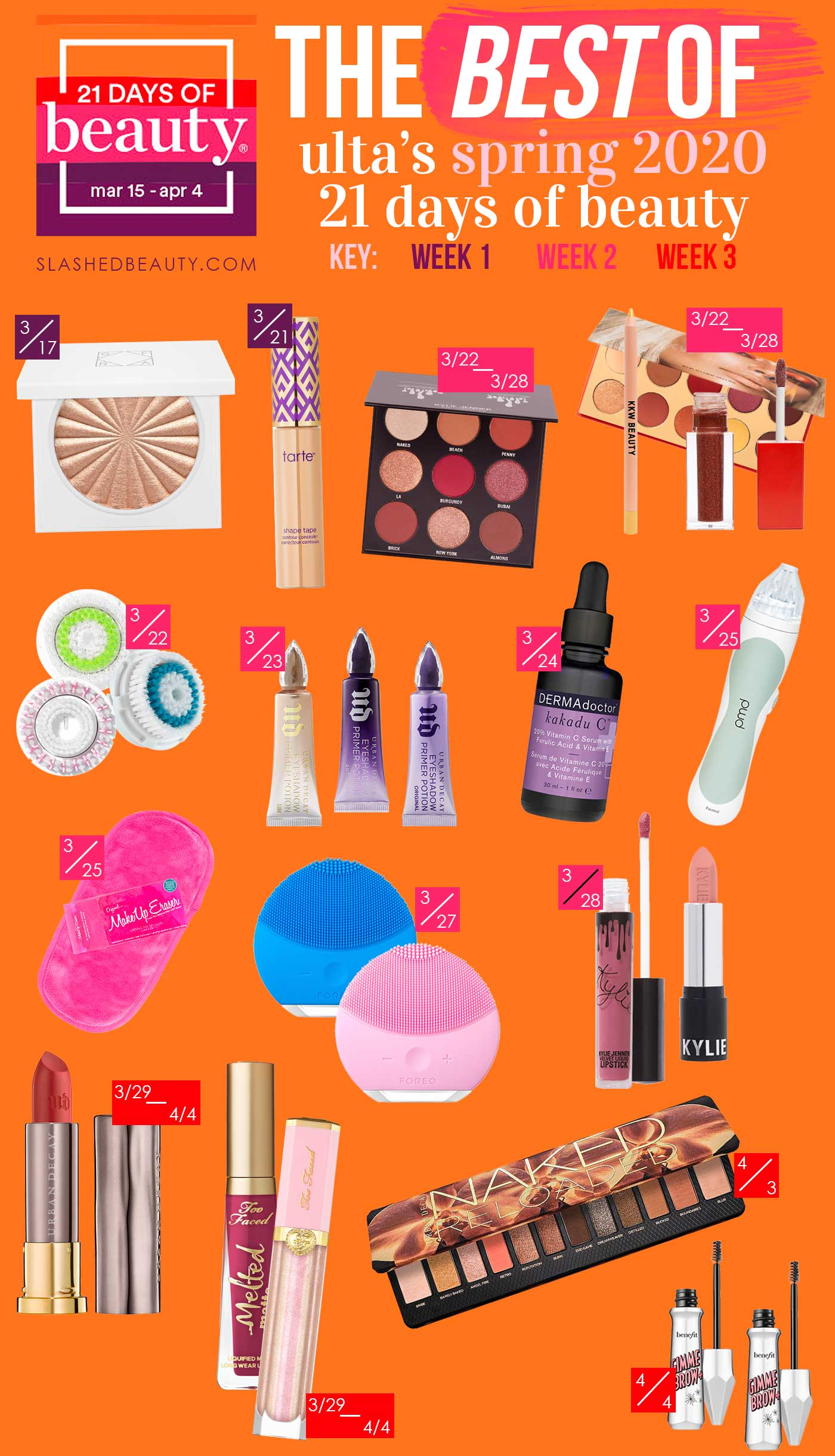The 15 Best Ulta 21 Days of Beauty 2020 Spring Deals | What to Buy during the Ulta 21 Days of Beauty 2020 Sale | Slashed Beauty