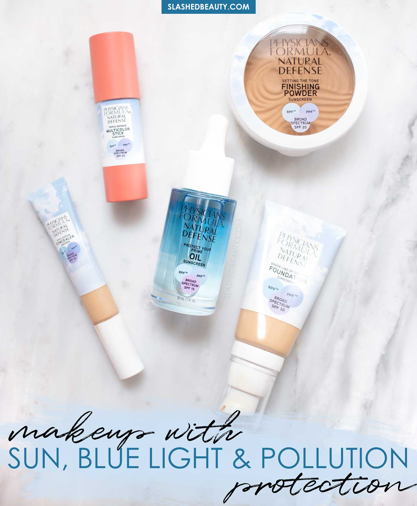 New Physicians Formula Makeup with SPF, Blue Light & Pollution Protection | Physicians Formula Natural Defense Makeup Review | Slashed Beauty