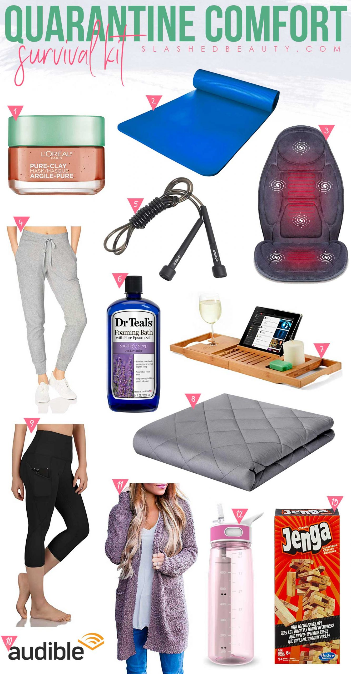 Quarantine Survival Kit for Self Care & Comfort | Quarantine Self Care Kit | Slashed Beauty