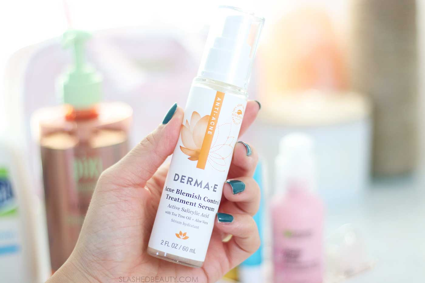 Derma E Acne Blemish Control Treatment Serum | Best Drugstore Skin Care for Acne Prone Skin | Slashed Beauty
