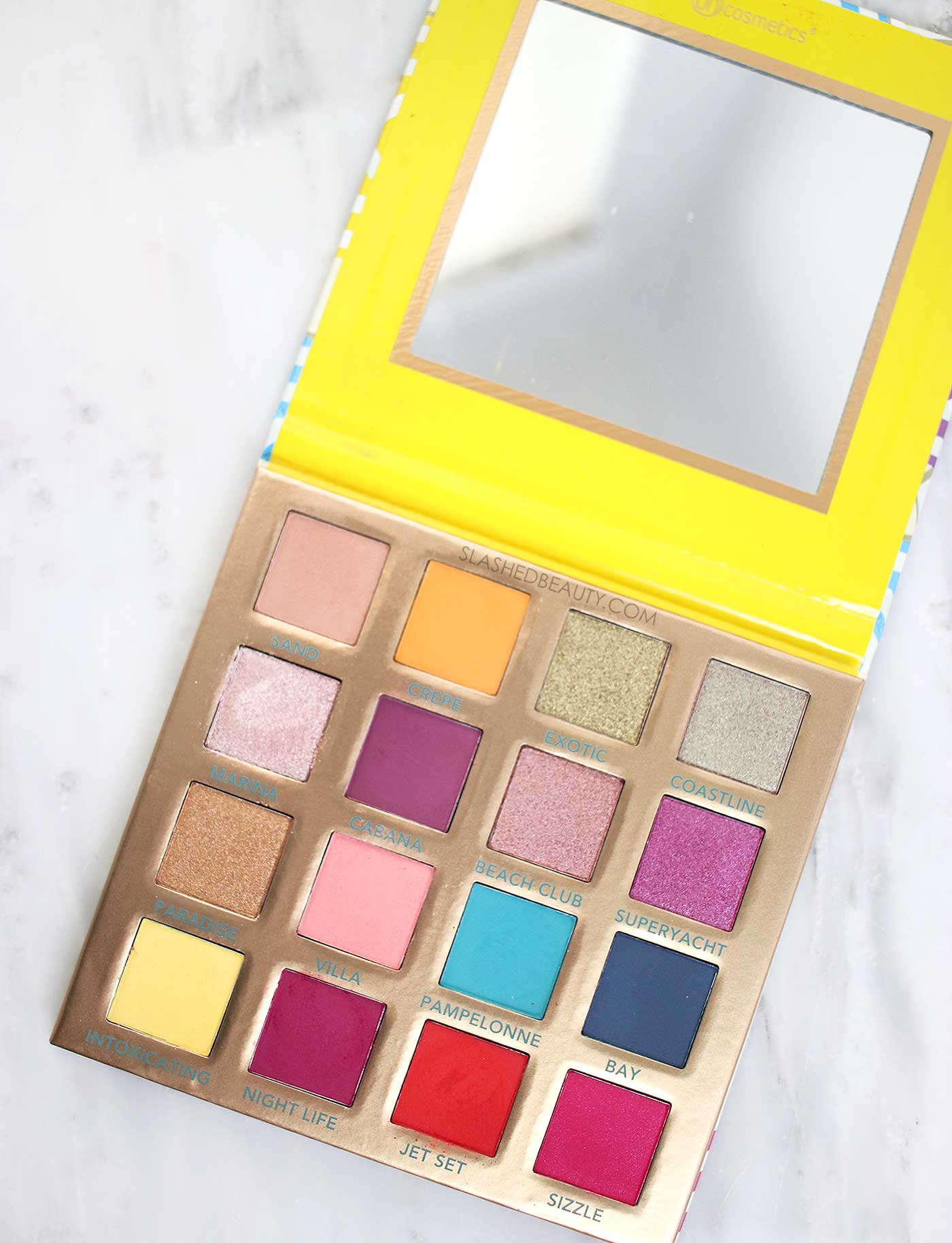 BH Cosmetics Summer in St. Tropez Palette Swatches, Review & Eye Look | Slashed Beauty