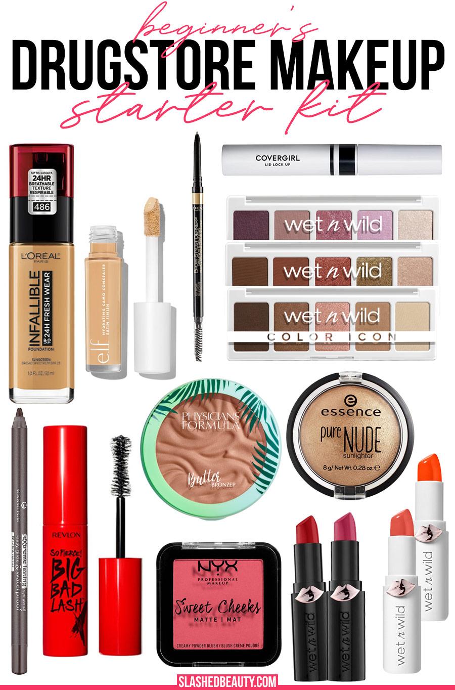 Drugstore Makeup Starter Kit for Beginners Recommendations | Best Drugstore Makeup for Beginners | Slashed Beauty