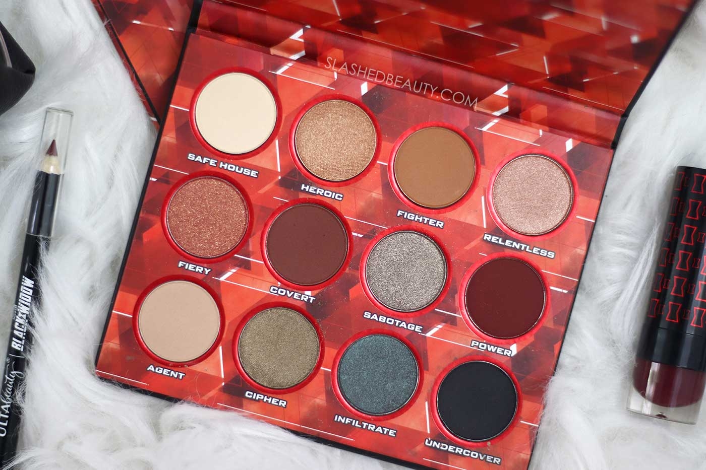Ulta Beauty Black Widow Eye Shadow Palette Review | Black Widow Movie Makeup | Slashed Beauty