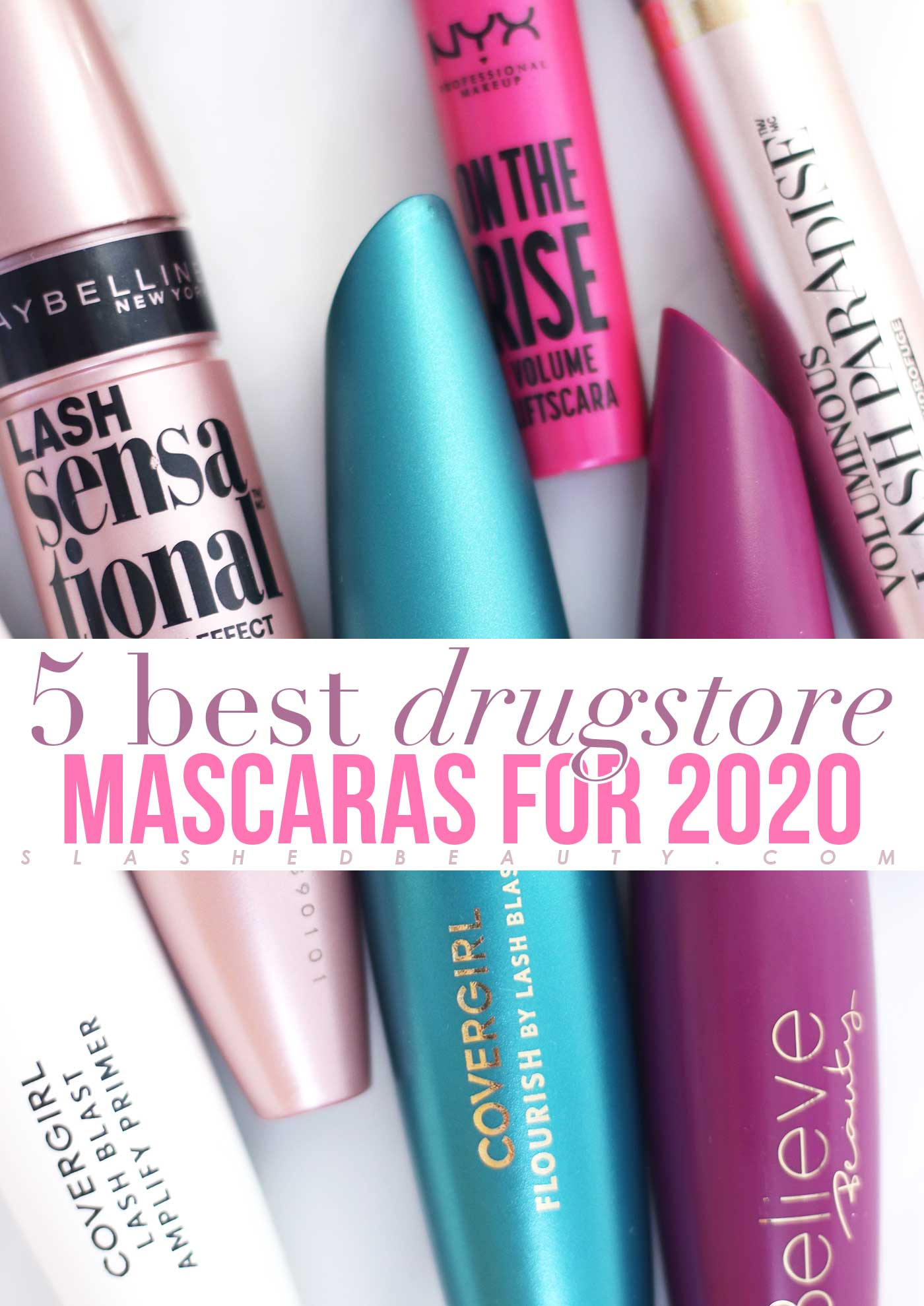 5 Best Drugstore Mascaras in 2020 | No Smudging! | Slashed Beauty