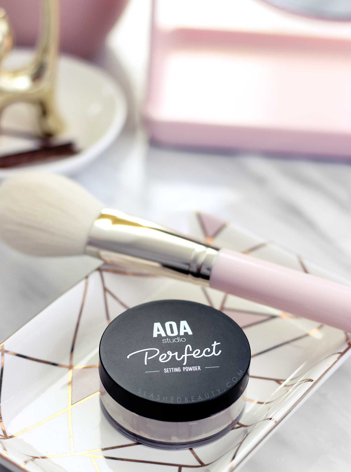 AOA Perfect Setting Powder Review | Best Powder for Baking on a Budget | Affordable Makeup Setting Powder | Slashed Beauty