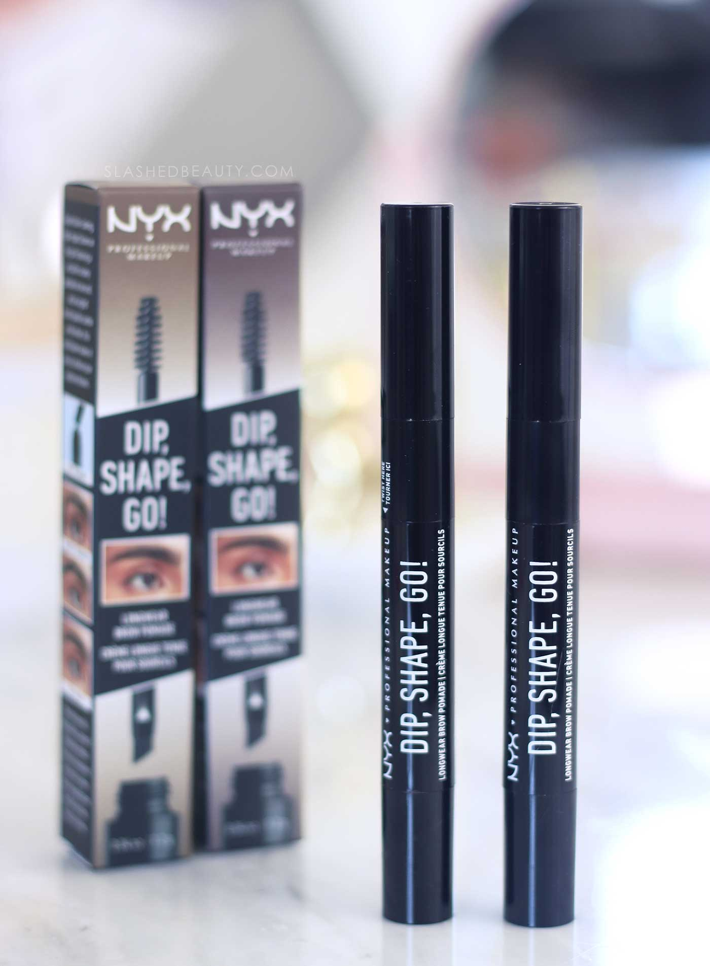 NYX Dip, Shape, Go! Brow Pomade Review | Slashed Beauty