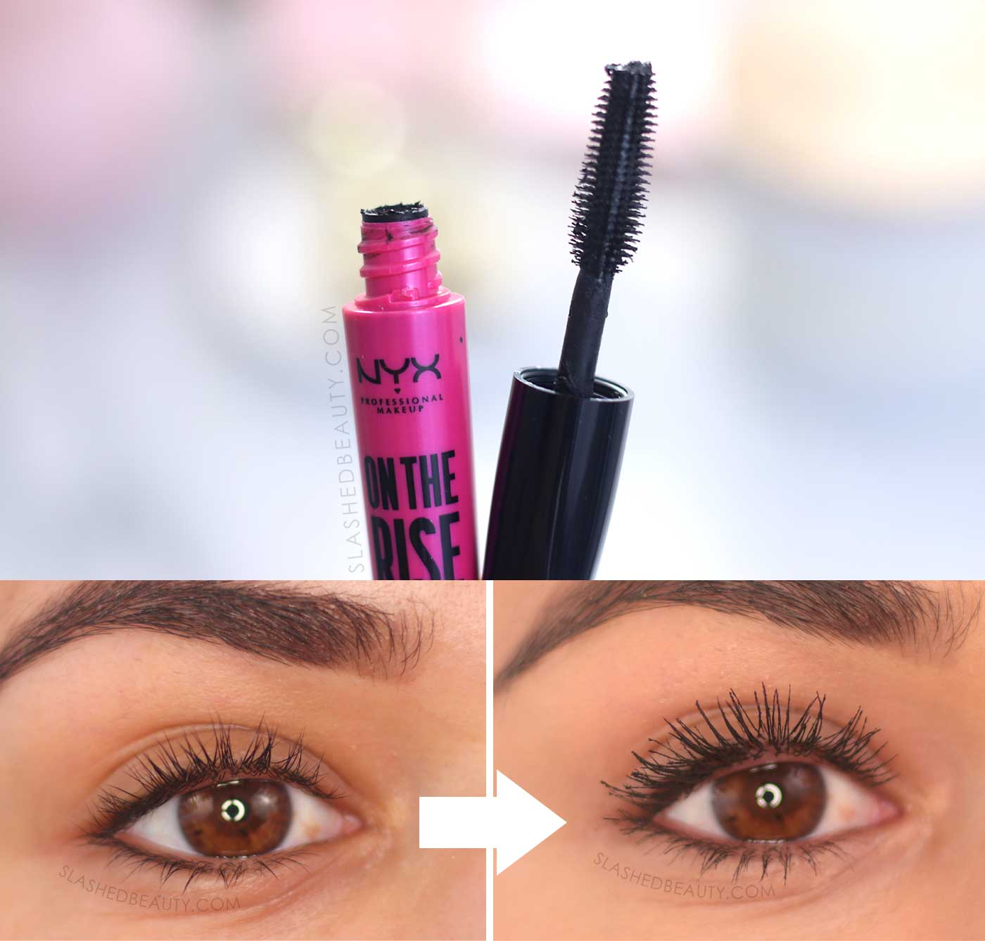 NYX On the Rise Volume Liftscara Before & After Review | 5 Best Drugstore Mascaras in 2020 | Slashed Beauty