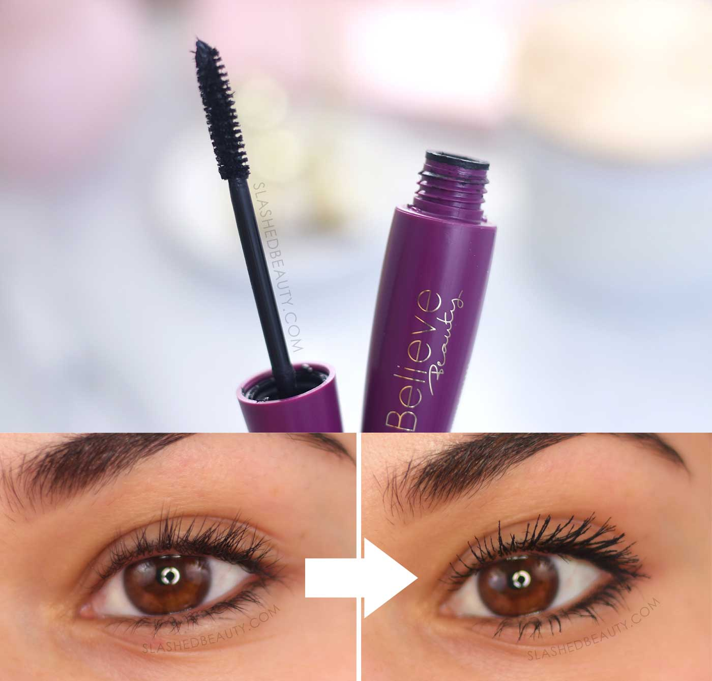 Believe Beauty High Drama Fiber Mascara Before & After Review | 5 Best Drugstore Mascaras in 2020 | Slashed Beauty