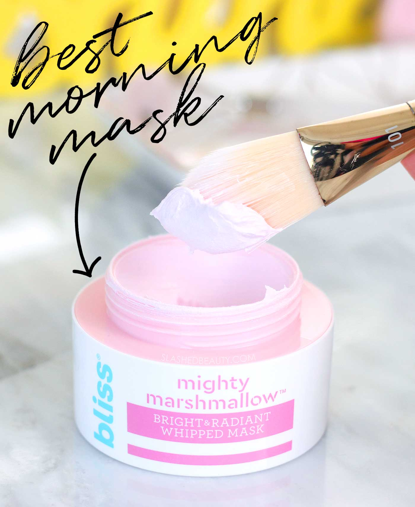 Best Morning Face Mask: Bliss Mighty Marshmallow Whipped Mask Review | Slashed Beauty