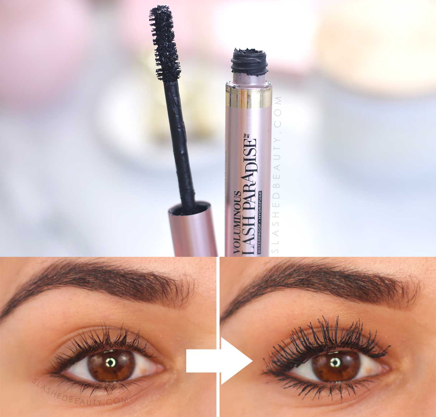 L'Oreal Lash Paradise Before & After Review | 5 Best Drugstore Mascaras in 2020 | Slashed Beauty