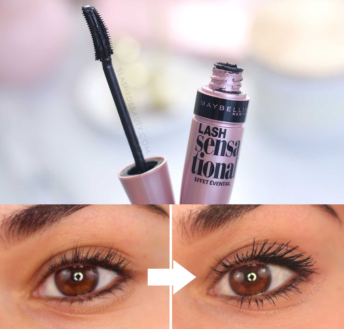 Maybelline Lash Sensational Mascara Before & After Review | 5 Best Drugstore Mascaras in 2020 | Slashed Beauty