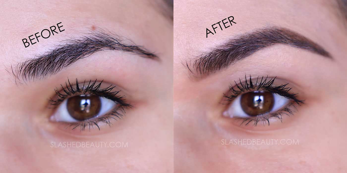NYX Dip, Shape, Go! Brow Pomade Review Before & After | Slashed Beauty