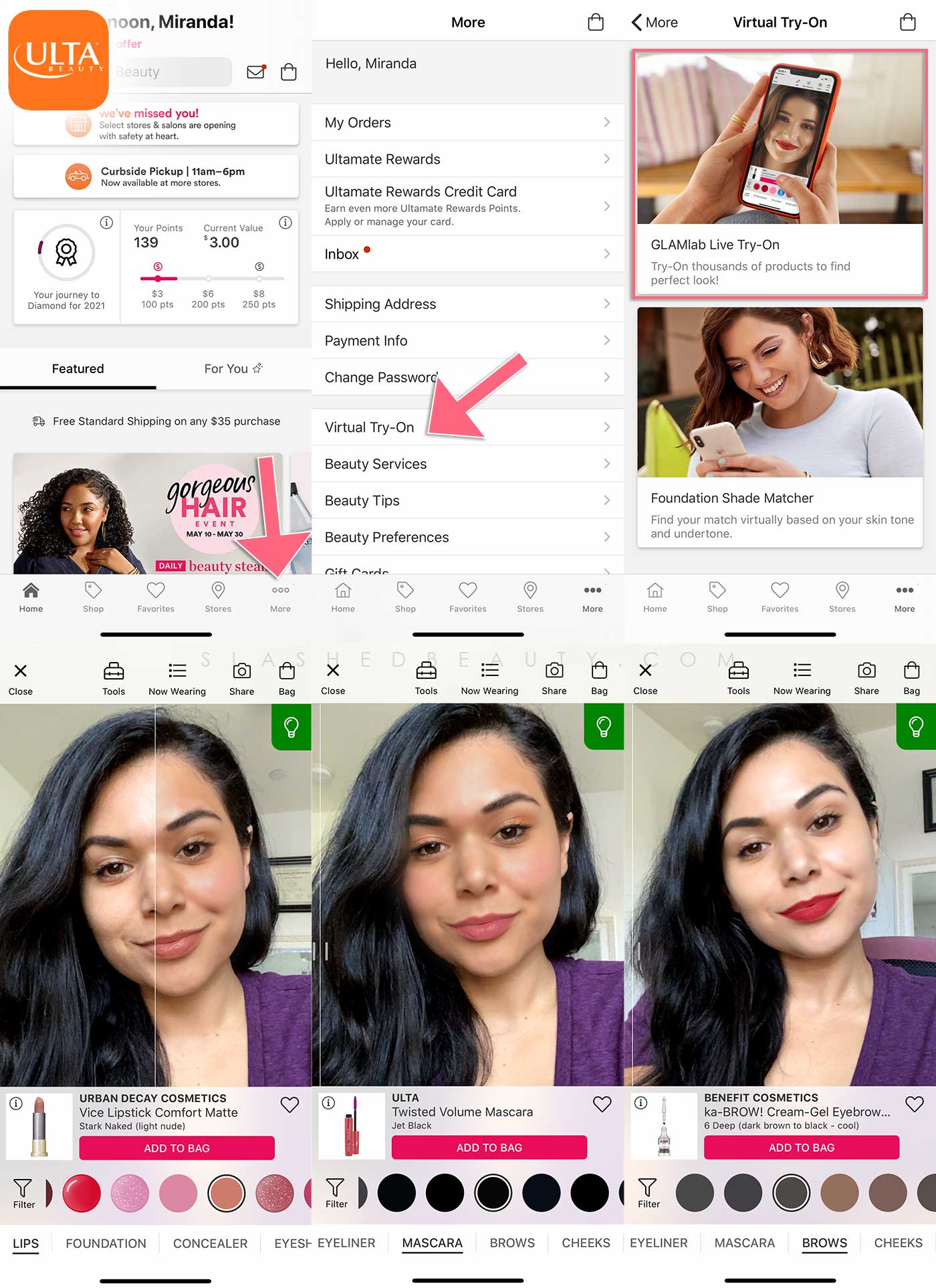 How to try on makeup virtually | How to find foundation match online | Buying Makeup During Lockdown: Tips for Buying Makeup Online | Slashed Beauty