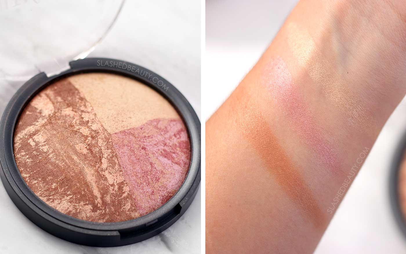 Ulta Beauty Baked Sculpt & Glow Palette Swatches | 5 Best Glowy Makeup Products from the Drugstore | Slashed Beauty