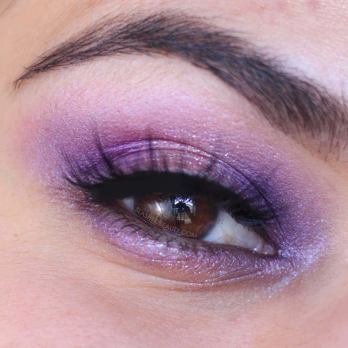 Eyeshadow look using NEW Urban Decay Naked Ultraviolet Palette Review & Swatches | Slashed Beauty