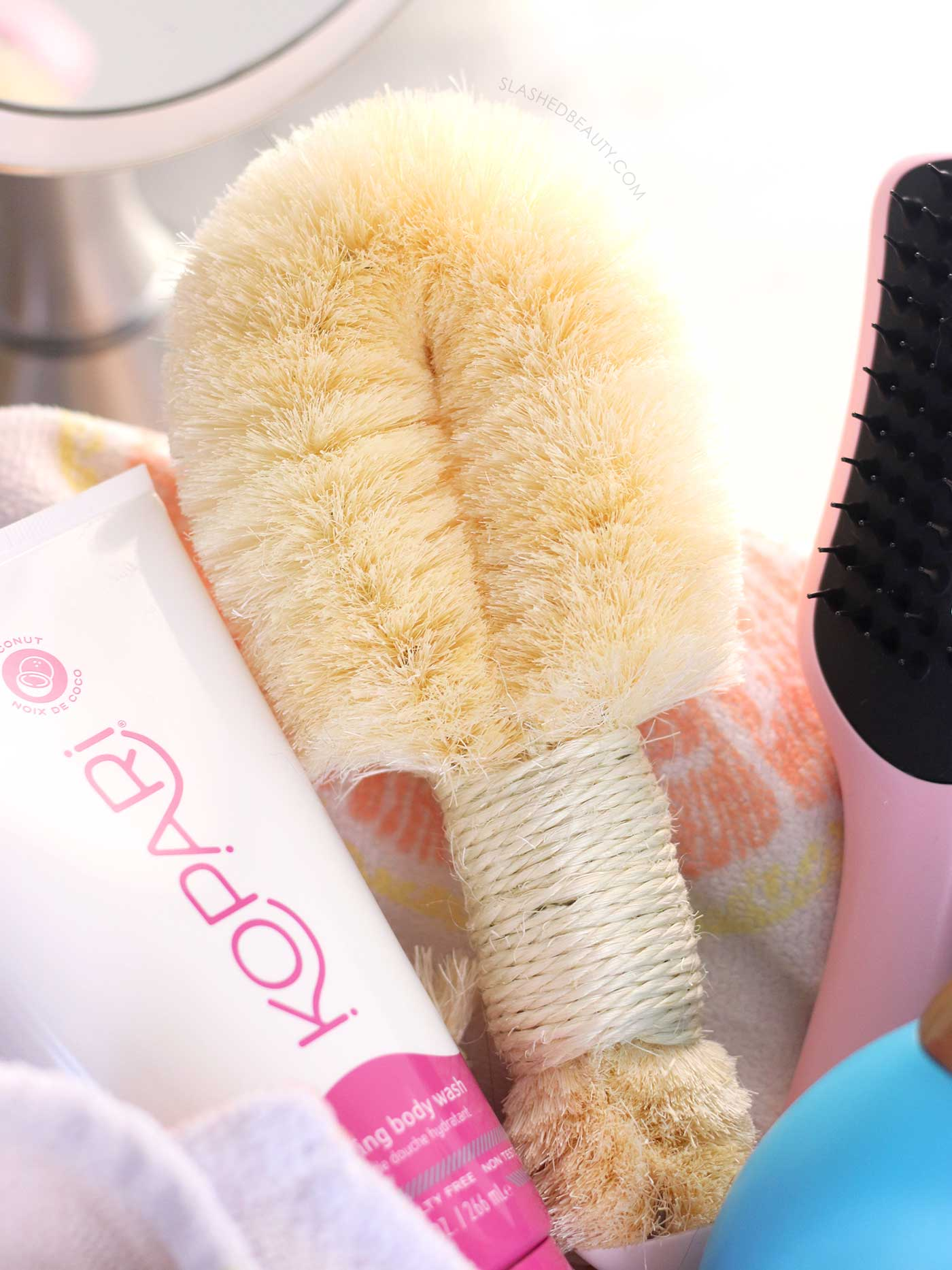 Best Tool for Body Exfoliation: Daily Concepts Sisal Brush   6 Best Shower Products for Summer   Slashed Beauty