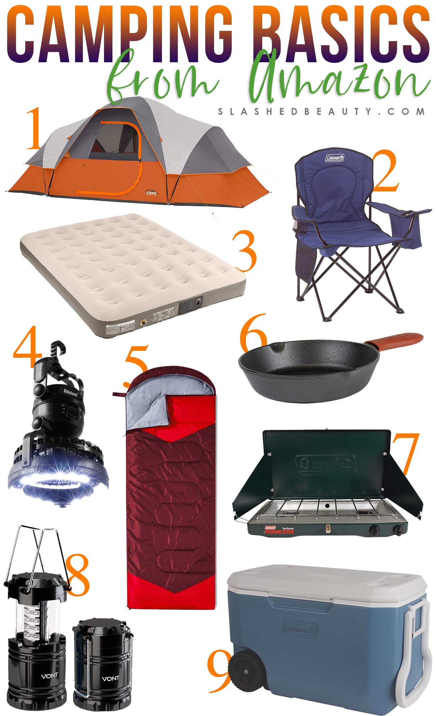 9 Basic Camping Gear Essentials from Amazon | Camping Gear for Beginners | Slashed Beauty
