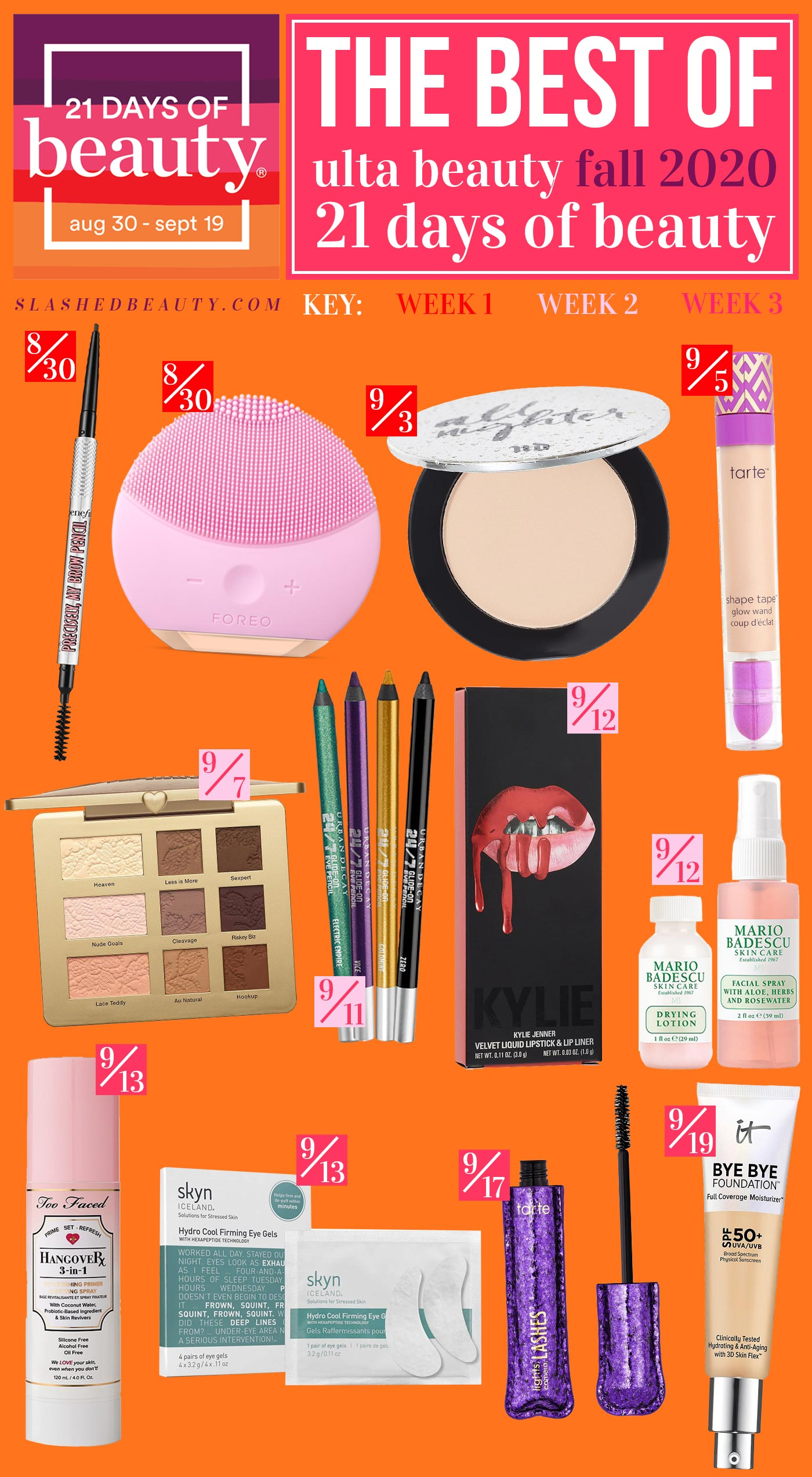 The 12 Best Ulta 21 Days of Beauty 2020 Fall Deals | Ulta Beauty 21 Days of Beauty 2020 September Calendar | Slashed Beauty
