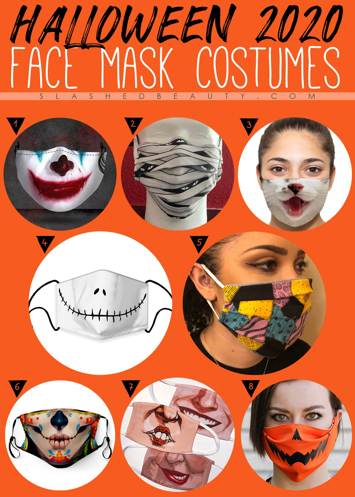 8 Halloween Face Mask Costumes from Etsy | Halloween Costumes with Masks | Slashed Beauty
