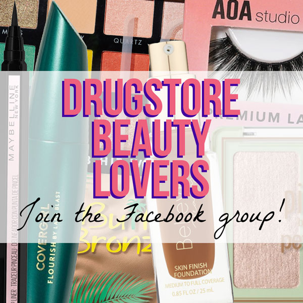 Join the Drugstore Beauty Groupies Facebook group to chat all about your favorite budget beauty brands and products.