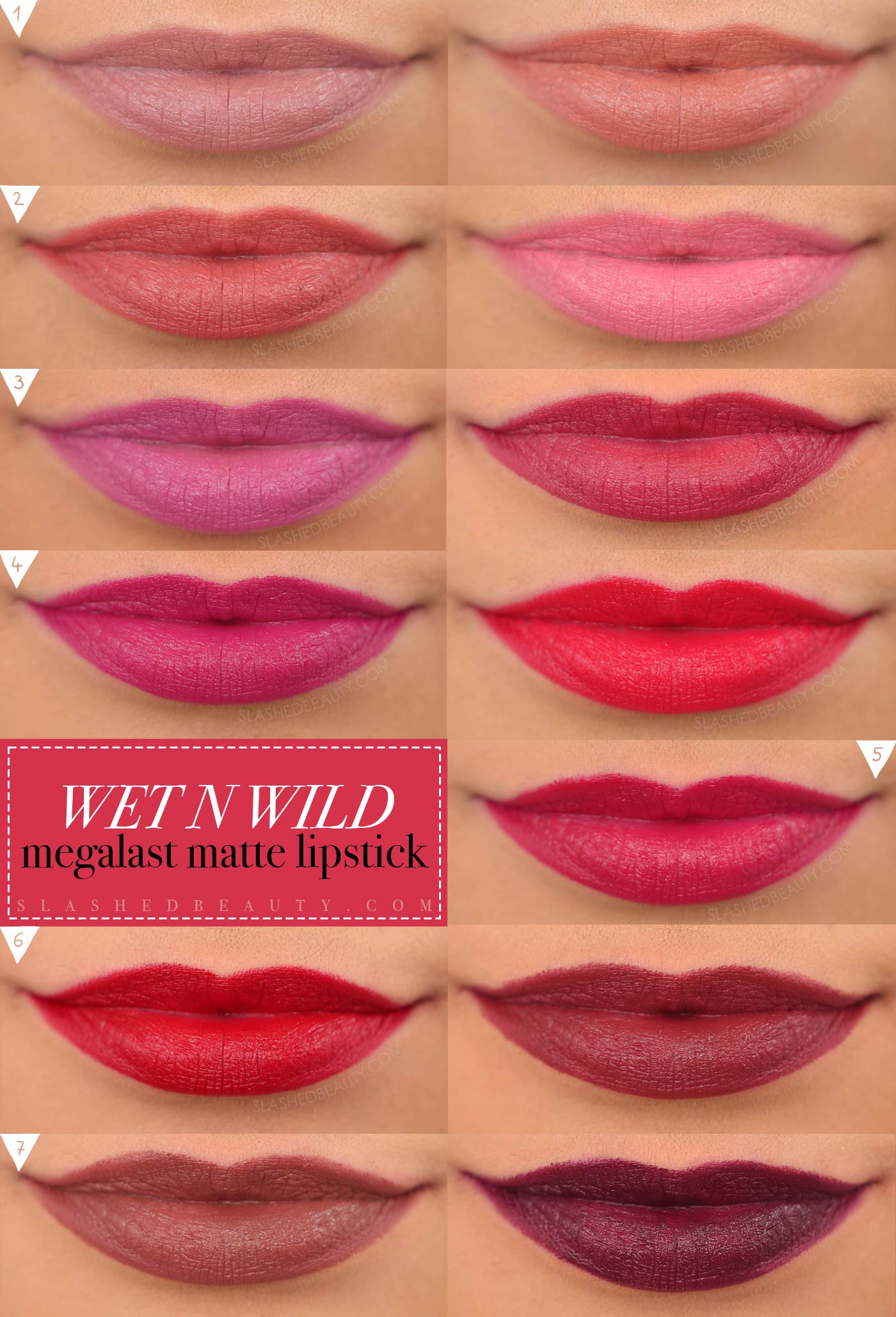 Wet n Wild Megalast Matte Lipsticks Swatches All Shades | Moisturizing Matte Drugstore Lipstick | Slashed Beauty