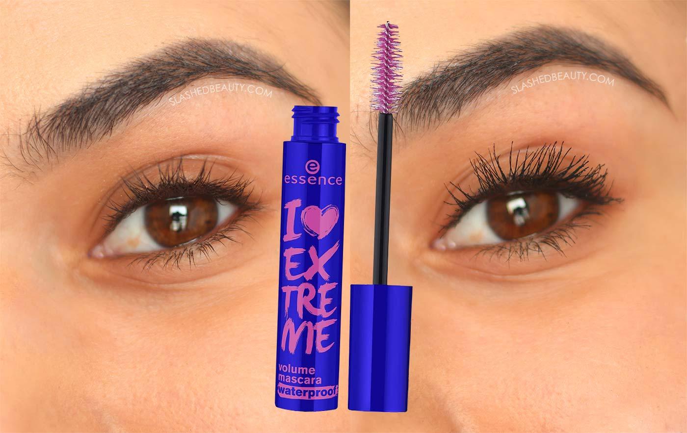 essence I Love Extreme Volume Mascara Before & After| NARS Climax Mascara Dupe | Slashed Beauty