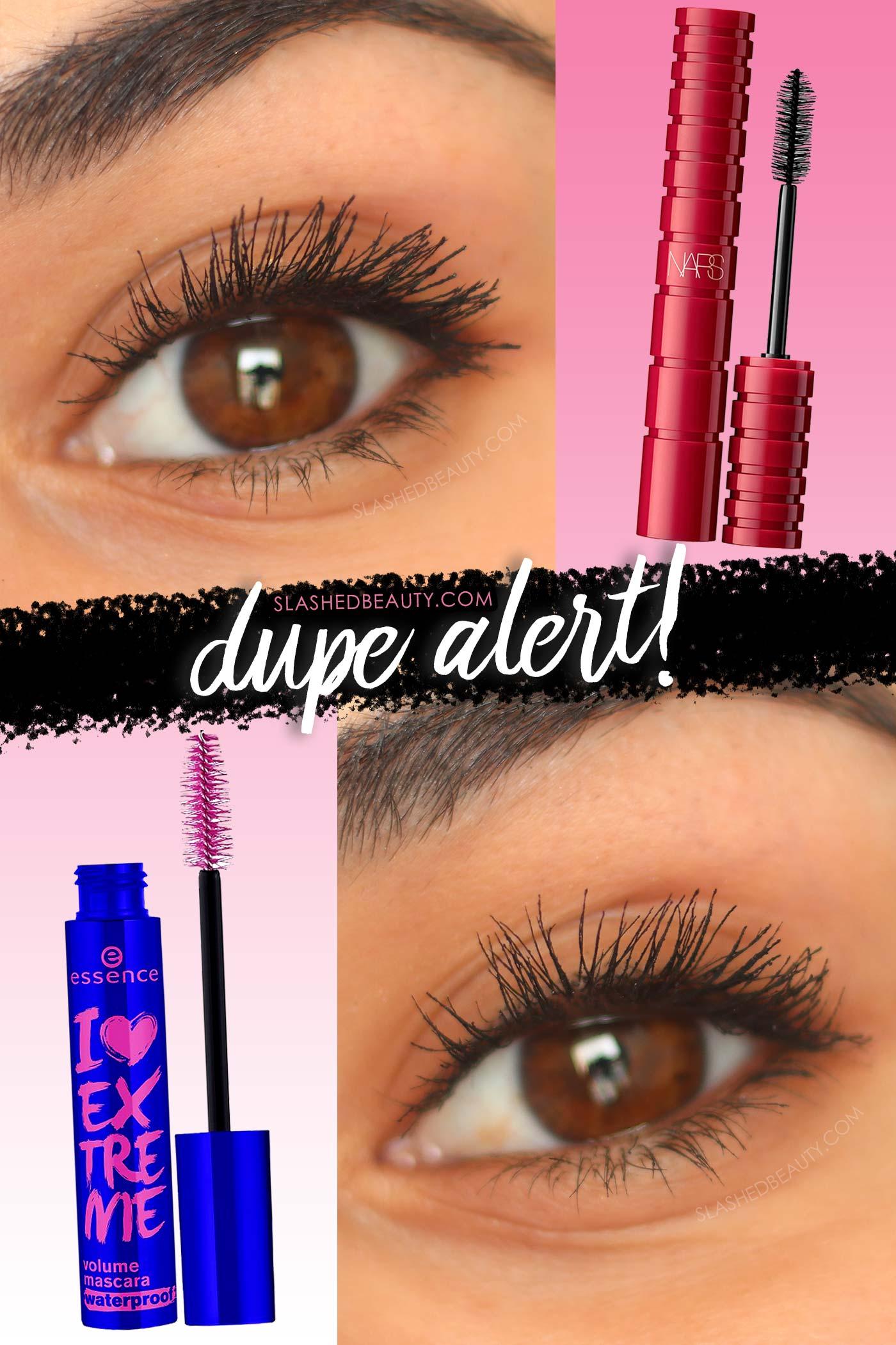 NARS Climax Mascara Dupe: Essence I Love Extreme Volume Mascara | Drugstore Mascara Dupe Comparison | Slashed Beauty