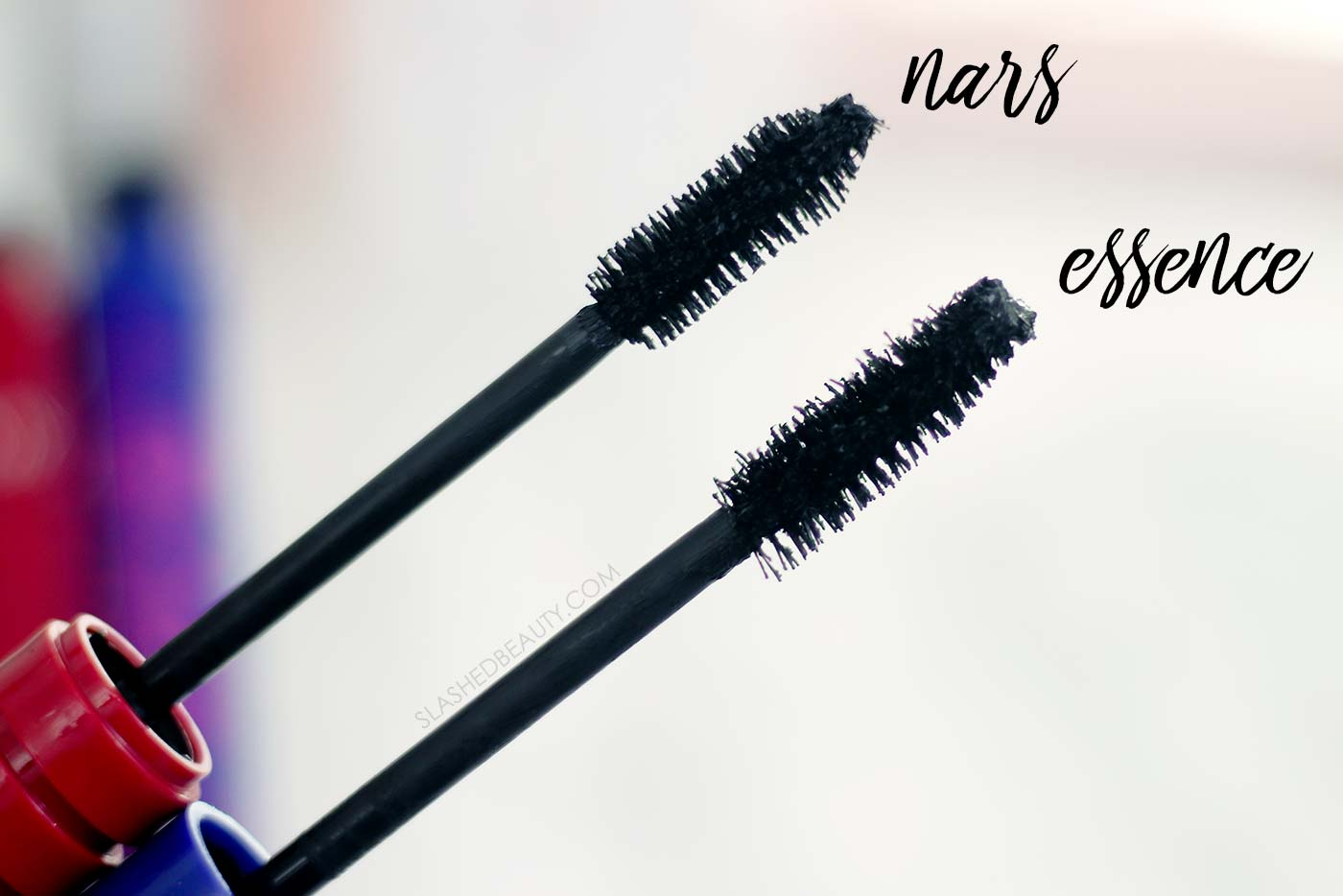 NARS Climax Mascara Brush vs essence I Love Extreme Volume Mascara Brush | NARS Climax Mascara Dupe | Slashed Beauty